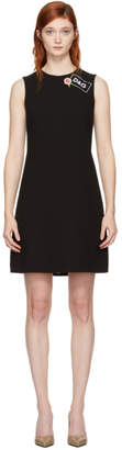Dolce & Gabbana Black Crepe A-Line Dress