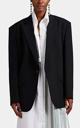 Maison Margiela Women's Piqué Drawstring One-Button Blazer - Black