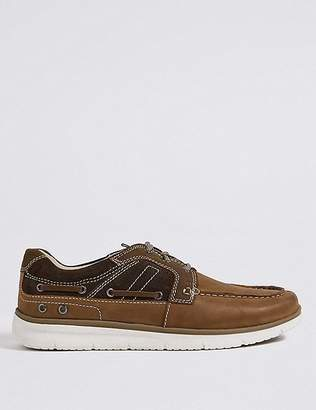 Marks and Spencer Leather Lace-up Boat Shoes