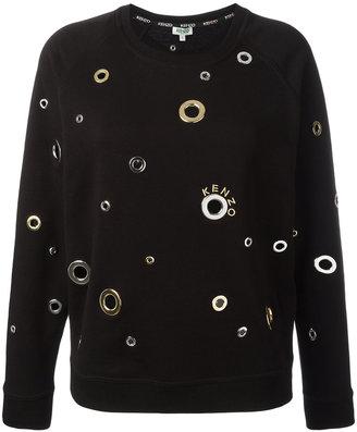 Kenzo eyelet embellished sweatshirt $545 thestylecure.com