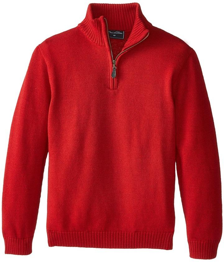 Oscar de la Renta Childrenswear Merino Half Zip Sweater (Toddler/Little Kids/Big Kids)