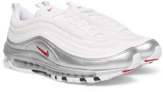 Nike Air Max 97 Qs Faux Leather And Mesh Sneakers - White