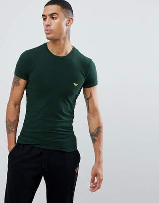 Emporio Armani slim fit back logo t-shirt in green