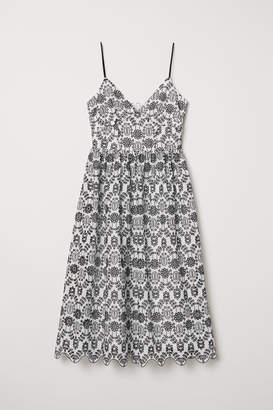 H&M Dress with Eyelet Embroidery - Black