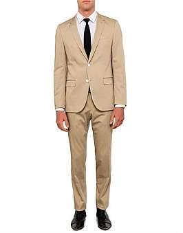 HUGO BOSS Harvey Getlin Cotton Twill Plain Suit