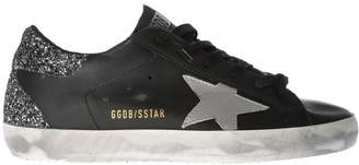 Golden Goose Glitter-heel Superstar Sneakers