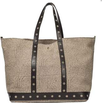 Borbonese Large Leather Shopping Bag