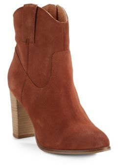 Will Call Zipped Leather Ankle Boots $170 thestylecure.com