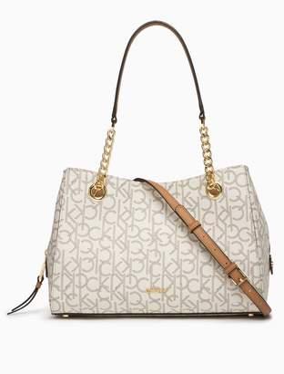 Calvin Klein monogram chainlink satchel