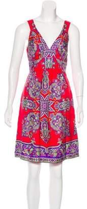 Tibi Silk Printed Dress