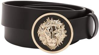 Versus 35mm Lion Head Smooth Leather Belt