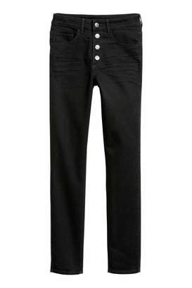 H&M Skinny High Ankle Jeans - Black - Women