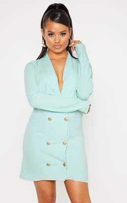 PrettyLittleThing Petite Mint Button Blazer Dress