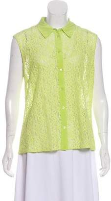 Equipment Sleeveless Lace Top