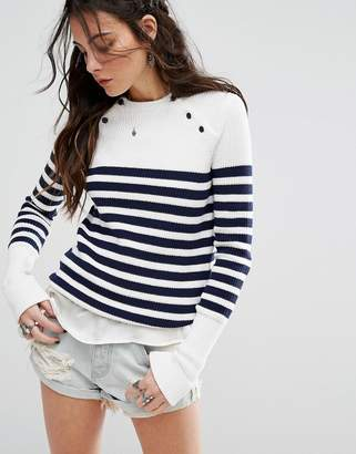 Lovers + Friends Nautical Stripe Sweater