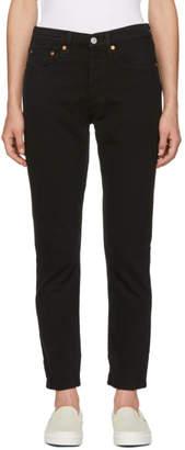 Levis Black 501 Skinny Jeans