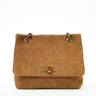 Lanvin Happy Camel Suede Handbag