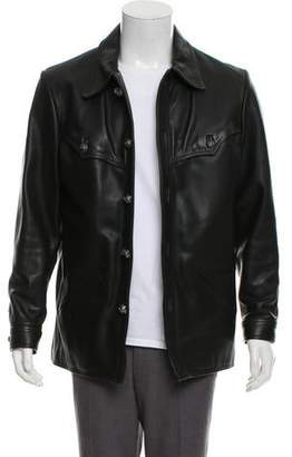 Chrome Hearts Sterling Silver-Accented Leather Jacket