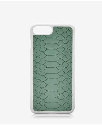 GiGi New York Iphone 7 Plus Hard-Shell Case In Eucalyptus Embossed Python