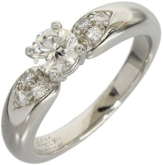 Van Cleef & Arpels 950 Platinum Diamond Ring Size 5.75