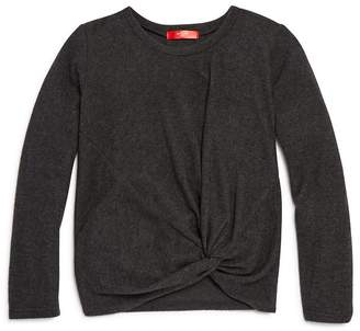 Aqua Girls' Twist-Front Sweater, Big Kid - 100% Exclusive