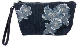 MICHAEL Michael Kors Medium Denim Floral Pouch
