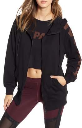 Ivy Park R) Metallic Logo Sleeve Hoodie