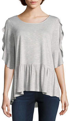 A.N.A Elbow Sleeve Scoop Neck T-Shirt-Womens