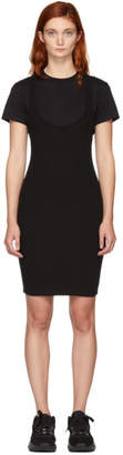 Alexander Wang Black Variegated Combo Dress