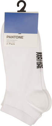 Pantone Double Pack of Cotton Sneaker Socks