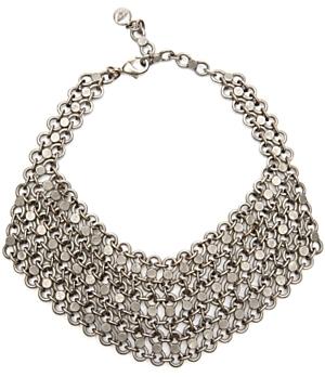 Ben Amun Link Bib Necklace: Silver