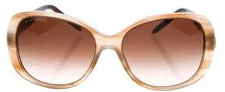 Bvlgari Marbled Square Sunglasses