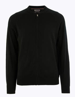 Marks and Spencer Pure Extra Fine Merino Wool Bomber Jacket