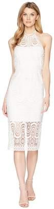 Laundry by Shelli Segal Mock Neck Venise Dress with Open Back Women's Dress