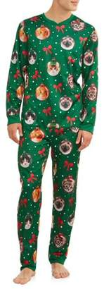 DEC 25TH Dec 25th Men's Sleep, Cat Ornaments Christmas Union Suit
