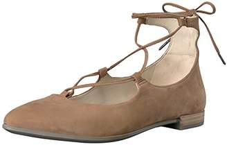 Ecco Women's Shape Tie Up Ballerina Ballet Flat