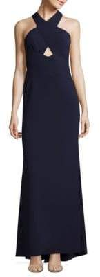 BCBGMAXAZRIA Salome Cutout Halter Gown