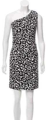 Calvin Klein Asymmetrical Printed Dress