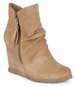 Rania Round Toe Suede Booties