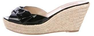 Valentino Patent Leather Slide Sandals
