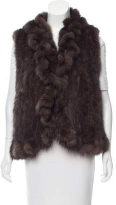 Fur Knitted Sable Vest