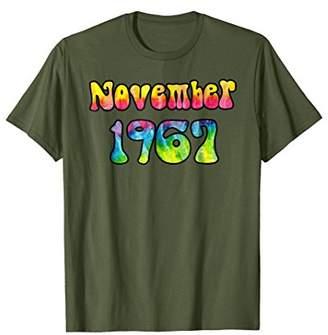 Vintage Tie Dye Hippie November 1967 50th Birthday T-Shirt