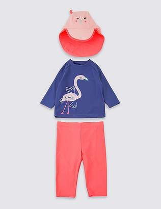 Marks and Spencer Swimsuit Set with Sun Smart UPF50+ (3 Months - 7 Years)