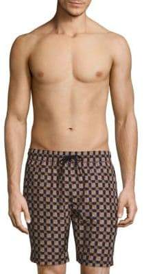 Burberry Guildes Crest Check Swim Shorts