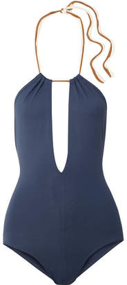 Eres Cinecittà Marcella Cutout Halterneck Swimsuit - Navy