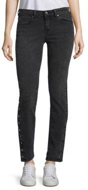 IRO Biba Button Hem Straight-Leg Jeans $295 thestylecure.com