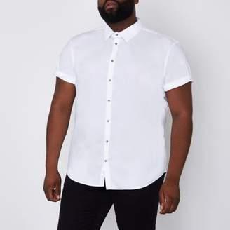 River Island Big and Tall white short sleeve shirt