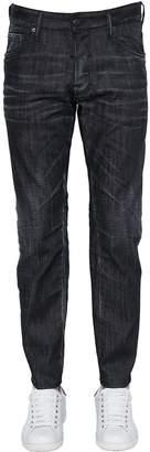 DSQUARED2 17cm City Biker Cotton Denim Jeans