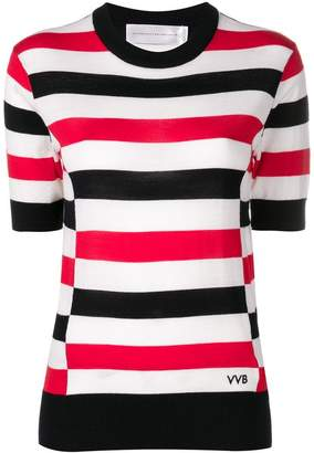 Victoria Beckham Victoria striped knitted blouse