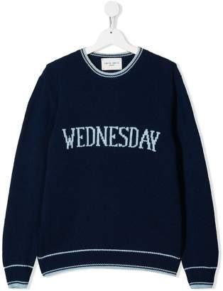 Alberta Ferretti Kids Wednesday knitted sweater